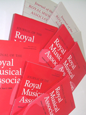 A collection of recent volumes of the Journal of the Royal Musical Association