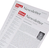 Front page of a recent RMA newsletter