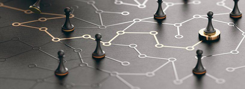 pawn on a conceptual maze